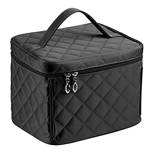 Größe Nylon Kosmetiktaschen mit Qualität Reißverschluss Single Layer Travel Make-up Tasche (Kit Reißverschluss Makeup)