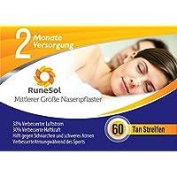 Nasenpflaster mittel x60 | RuneSol® Nasenstrips stoppen das Schnarchen und helfen Ihnen durch die Nase zu atmen... preisvergleich bei billige-tabletten.eu