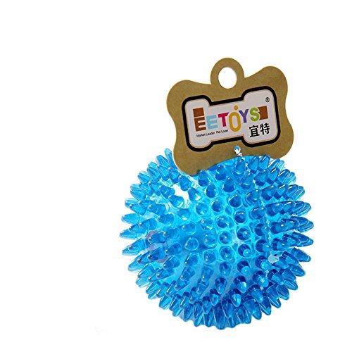 dsstyles 6cm Pet Puppy Hunde Katze Kauen Ball Spielzeug Top Cool Gummi Spike Hund kauen Spielzeug zufällige Farbe M (Cool Hund Spielzeug)