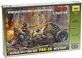 Zvezda 500783610 - 1:35 WWII Deutsche PAK 36 mit Mannschaft