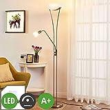 Lampenwelt LED Stehlampe 'Felicia' dimmbar (Modern) in Alu aus Metall u.a. für Wohnzimmer & Esszimmer (3 flammig, A+, inkl. Leuchtmittel) - Wohnzimmerlampe, Stehleuchte, Floor Lamp, Deckenfluter