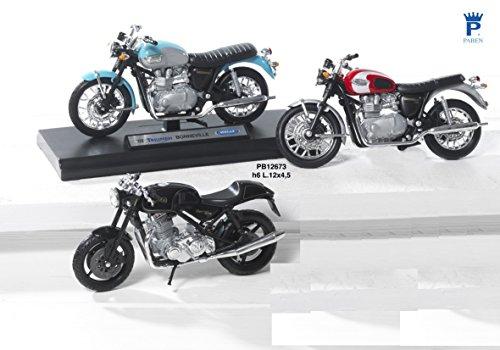 3pz modellini Moto Retro 12cm, 3varios, de metal