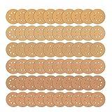 """iTrunk 60 Stück 8 Loch Gold Schleifscheiben 12,7cm (5"""") Staubfrei Klettbefestigung Schleifpapier für Schleifmaschinen Exzenter-Schleifer – je 10 x 60 80 120 180 240 320 Körnung"""