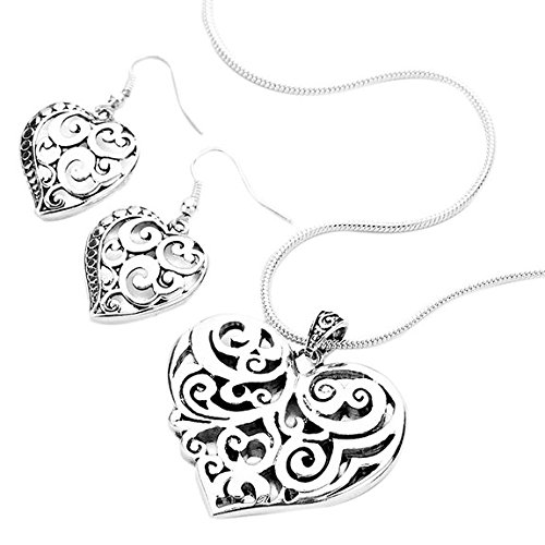 stunning-heart-necklace-pendant-and-earring-set