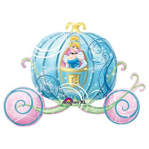 Anagram Folienballon 2646301Cinderella Kutsche Supershape, 83,8cm farbenreiche (Cinderella Ballons)