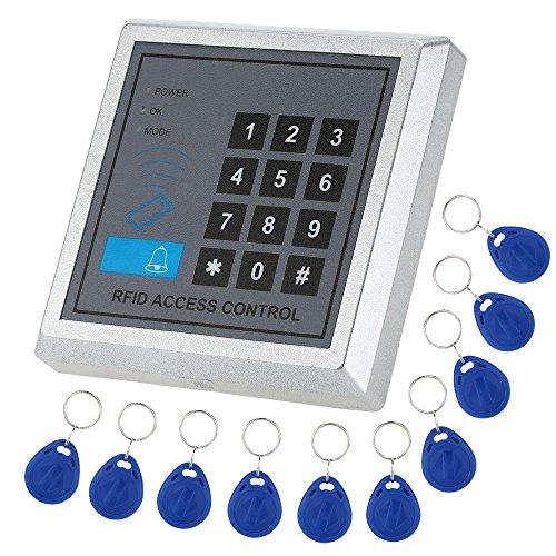 KKmoon Tür Eintrag Access Control System Kit Passwort Hostcontroller, Elektroschloss, Türschalter + DC12V Power Supply + 10pcs 125KHz RFID-Karten