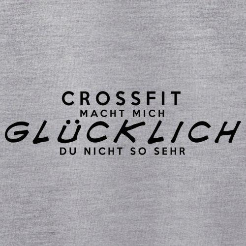 CrossFit macht mich glücklich - Unisex Pullover/Sweatshirt - 8 Farben Grau Meliert