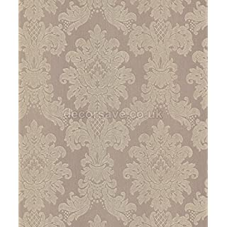Arthouse Wallpaper Messina Damask Taupe 261003 by Arthouse Wallcoverings