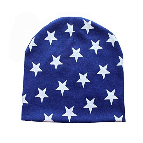 Koly _Infante inverno caldo Crochet Beanie (Blu scuro)