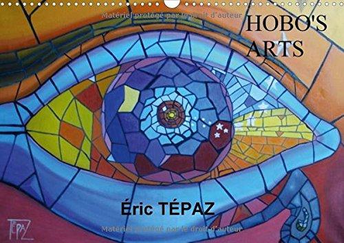 hobos-arts-peintures-originales-deric-tepaz-calendrier-mural-a3-horizontal-2017
