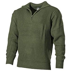 MFH Isländer Pullover, Troyer, Oliv, mit Reißverschluß