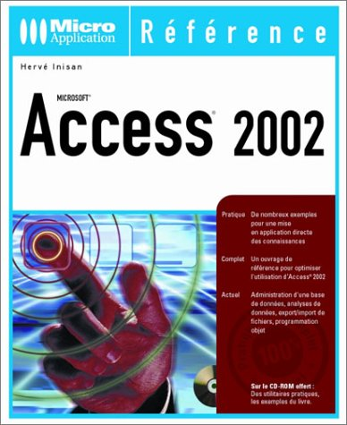 Access 2002 (avec CD-Rom)