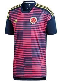 Adidas Colombia de Home Pre Match Camiseta, Todo el año, Hombre, Color Bopink