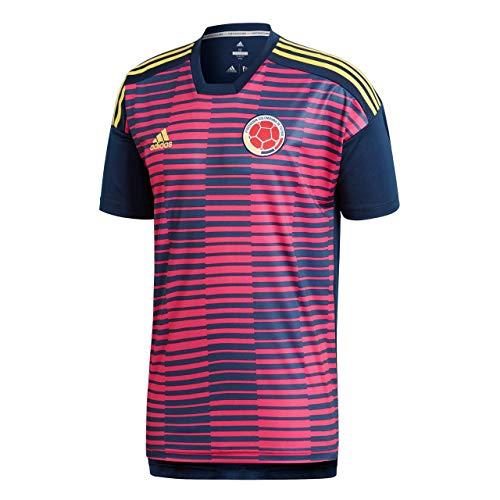 adidas Herren Kolumbien Heim Pre-Match Shirt, Bopink/Conavy, XS - Adidas Fußball Kolumbien