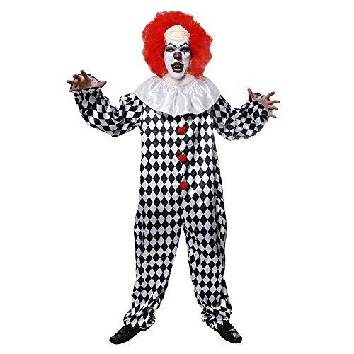 Böser Clown mit Perücke Halloween (Für Kostüme Halloween Clown)