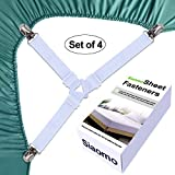 Bed Sheet Holders Suspenders Straps - 3-Way Triangle Sheet Fasteners Fitted Sheet Corner