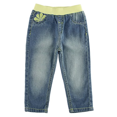 Chirpie Pie By Pantaloons Baby Girls' Relaxed Regular Fit Jeans (110026795_Blue_12-18 M)