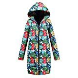 Ladies Winter Thick Jacket, Quaan Long Low Cotton Ladies Parka warm Classic Retro elegant Fancy Plus Size Soft Cozy Light Fashion Outside with a Hoodie Quilted Outwear Coat