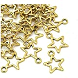 Charming Beads Tibetano Stella Ciondolo/Pendente Oro Antico 15mm Pacco di 30