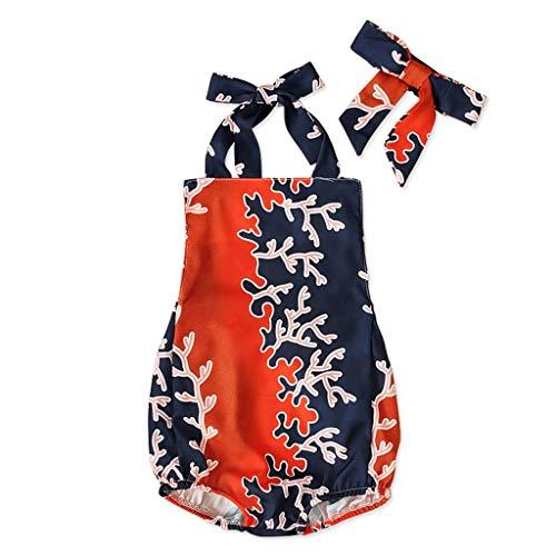 Sanahy Strampler Overall Kleidung Ärmelloses Sling Naht Bodysuit Baby Mädchen Jumpsuit Damen Sommer Outfits Spielanzug