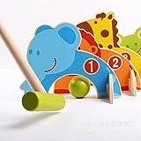 Di&Mi Tier Minigolf Pädagogische Spielzeug aus Holz für Kinder 3-7 Jahre Alt