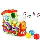 LUKAT LK-TOYS-958 Coches de Juguete para niños, Juguete de música, Juguetes eléctricos Tren con Bola y luz