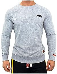Smilodox Herren Sweatshirt, Größe:M;Farbe:Grau