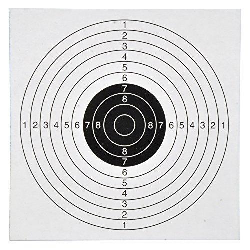 Kugelfang mit 100 Zielscheiben Scheibenkasten Luftgewehr Luftpistole 140x140 Ersatzzielscheiben Test