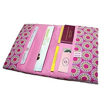 Reiseorganizer Reiseetui Stern Mandala pink Etui für Dokumente Ausweistasche mit eReader Fach