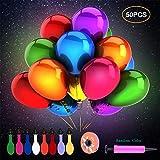 Herefun 50 Piezas Globos de LED Colores Luces para Decoración de Boda...