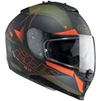 Casco de moto IS-17 Armada MC7F de HJC, verde, talla XS