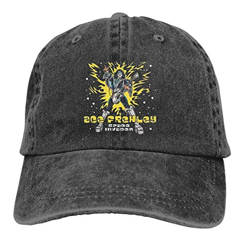 Invader Space Kostüm - cvbnch Baseball Caps für Herren/Damen,Ace Frehley Space Invader Fashion Cool Soft Baseball Cap Funny Soft Cowboy Hat Sun Dad Hat Unisex