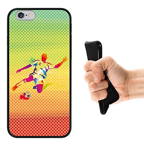 iPhone 6 6S Hülle, WoowCase Handyhülle Silikon für [ iPhone 6 6S ] Bunte Mandala Handytasche Handy Cover Case Schutzhülle Flexible TPU - Transparent Housse Gel iPhone 6 6S Schwarze D0504