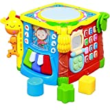 Best 1 Year Old Birthday Gifts - Techhark 5 in 1 Learning Cube Educational Activity Review