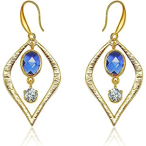 Goccia orecchini cristallo elementi Handmade Art Deco Surround zircone Crystal di ragazza