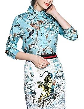 Feixiang - Camisas - Manga Larga - para mujer