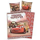 Herding 4429061027 Parure de Lit pour Enfants avec Imprimé Disney's Cars en Coton Multicolore 140 x 200 cm