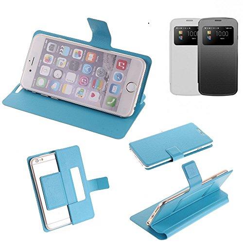 K-S-Trade Flipcover für MobiWire Pegasus Schutz Hülle Schutzhülle Flip Cover Handy case Smartphone Handyhülle blau