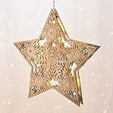 Gravidus dekorativer Weihnachtsstern in Holzoptik, mit LED-Beleuchtung