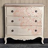 Tutti stencil Home Decor rosone 013, 1/4stencil mandala, misure: 50x 50cm.-Design: 48x 48cm.