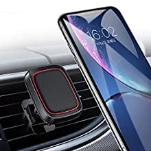 Likinglism Magnetic Car Phone Mount, Car Phone Holder for Car Air Vent with 6 Strong Magnets Compatible with iPhone X/XR/Xs/Xs Max/8/8 Plus, Samsung Galaxy S10/10+/9/9+/, Note 9/8, Google and More