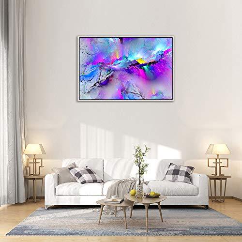 (LCLrute Umrahmt von modernen bunten blauen Leinwand Wand abstrakte Kunst Bild Large Print (40X60CM))