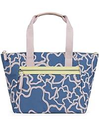 TOUS Capazo Kaos Colores, Shopper para Mujer, Azul (Jeans / Rosa), 12x26x30 cm (W x H x L)