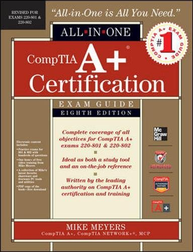 Preisvergleich Produktbild CompTIA A+ Certification Exam Guide,  w. CD-ROM (Comptia A+ Certification All-in-one Exam Guide)