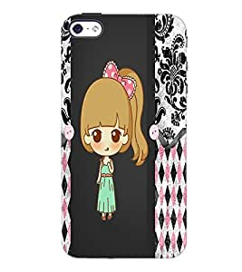 PrintDhaba Cute Doll D-3528 Back Case Cover for APPLE IPHONE 4S (Multi-Coloured)