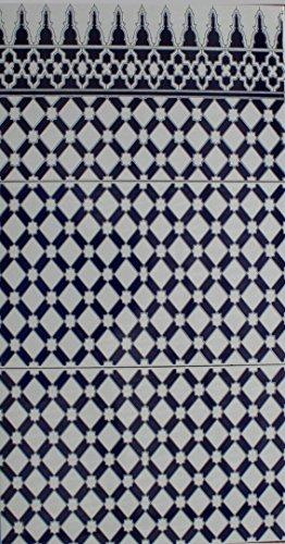 Preisvergleich Produktbild B-Ware 3 Keramikfliesen Sevilla 705 Dekor Kacheln Wandfliesen Küchenrückwand Mosaikfliesen marokkanische Fliesen