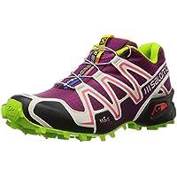 Salomon Speedcross 3 Women Trail Laufschuhe mystic purple-light grey-granny green