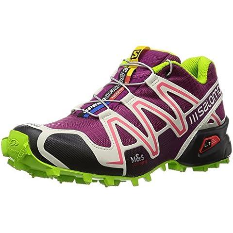 Salomon Speedcross 3 Women Trail Laufschuhe mystic purple-light grey-granny green - 40 2/3