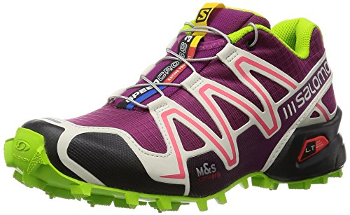 Salomon  Speedcross 3 W, Chaussures de trail Salomon Speedcross 3 W Light Onix Topaz Blue Dark Cloud femme Violet