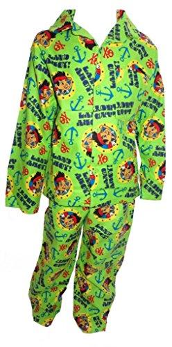 Jake und die Nimmerland Piraten Jungen Grüne Winter Wincyette Pyjamas 2-3 Jahre